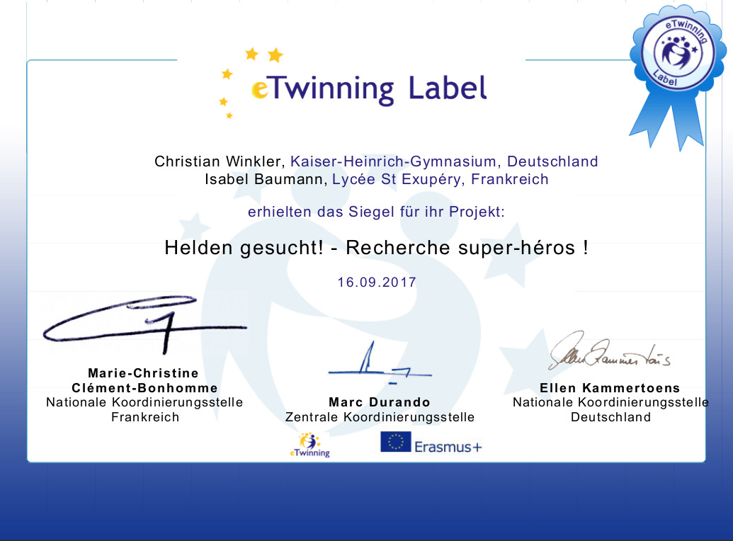 eTwinning Label 2017 Wi